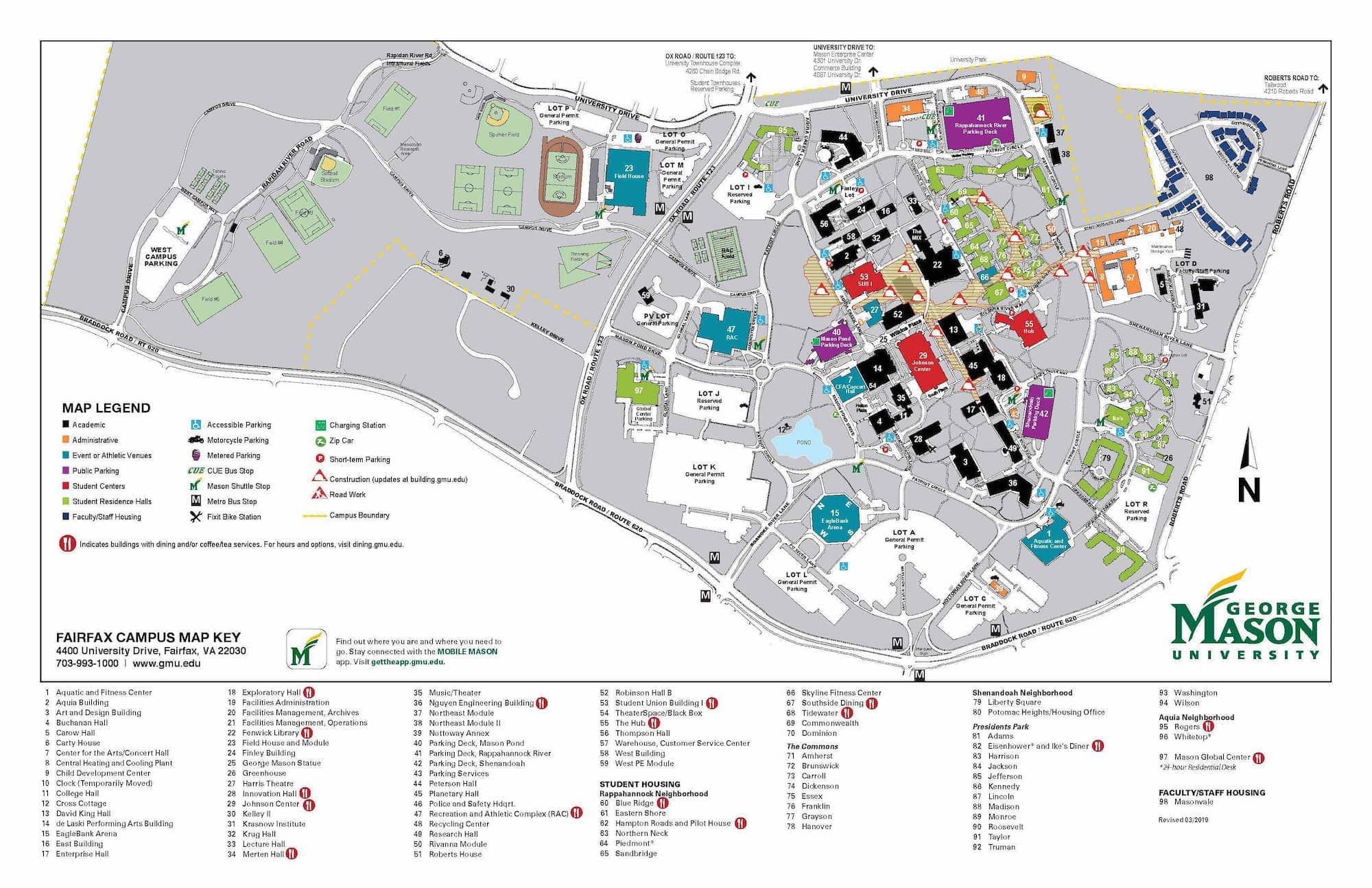 Gmu Campus Map Fairfax | Map feccnederland